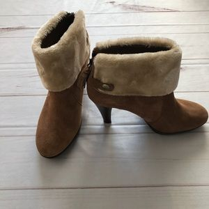 Anne Klein Fleece cuffed Ankle Boots